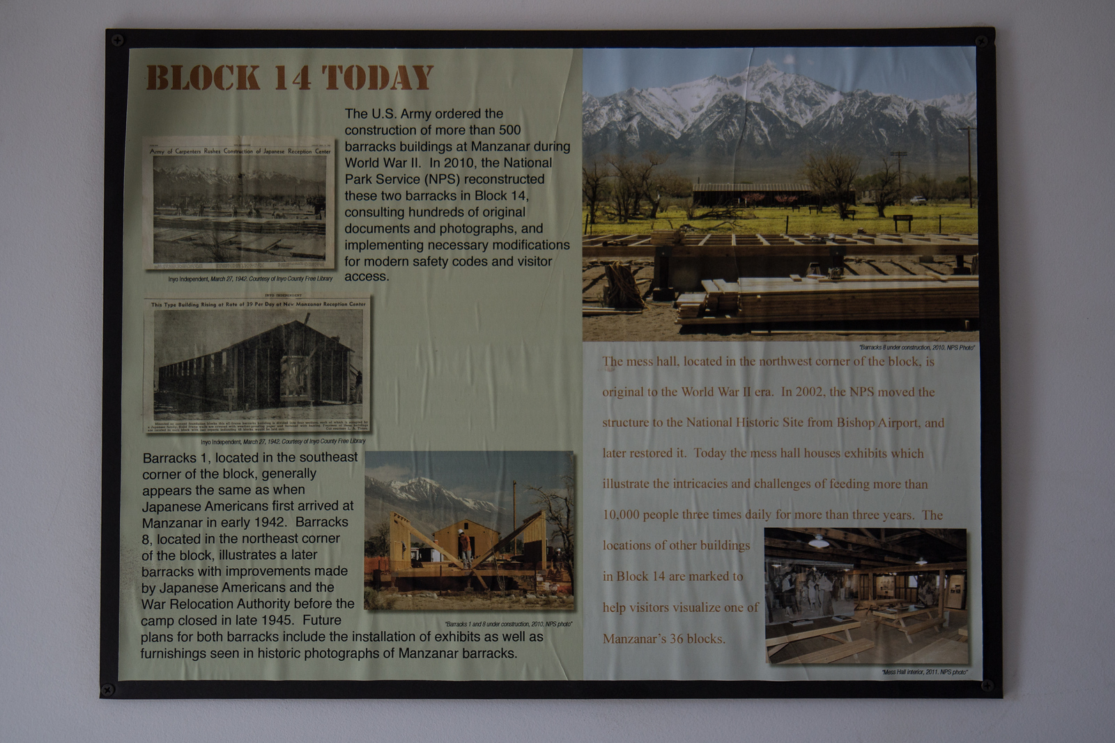 Manzanar barrack 14 today